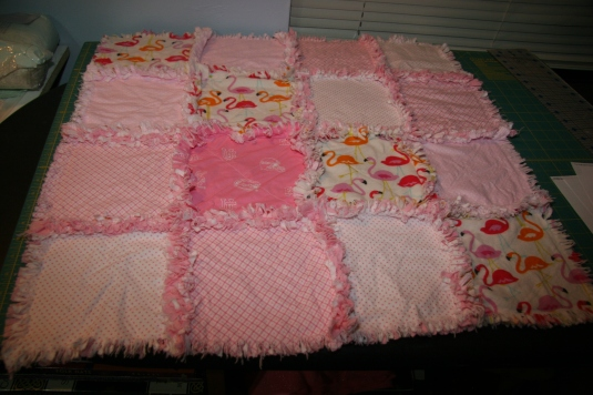 Easy little Florida baby rag quilt