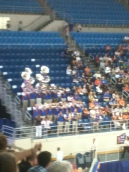 Band played at NCAA Regional Gymnastics Championships 4/6/13