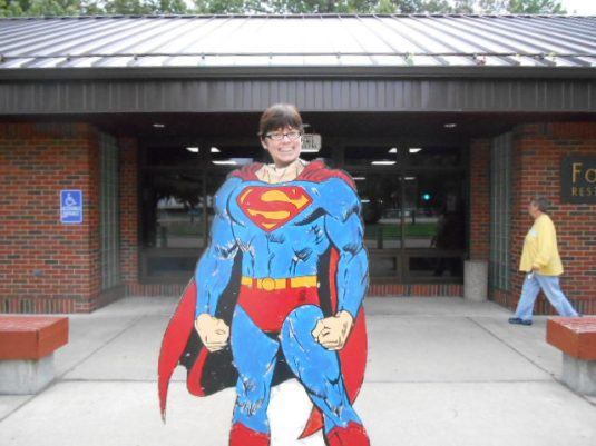 ain't no Superman when it comes to sewing: at Metropolis, IL