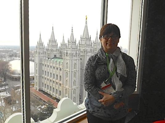 Temple Square, Salt Lake City view