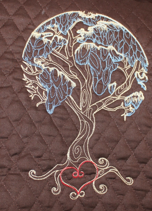 tree embroidery motif