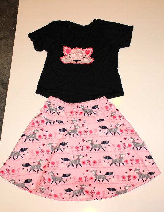 t-shirt and skirt set