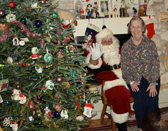 mom & Santa