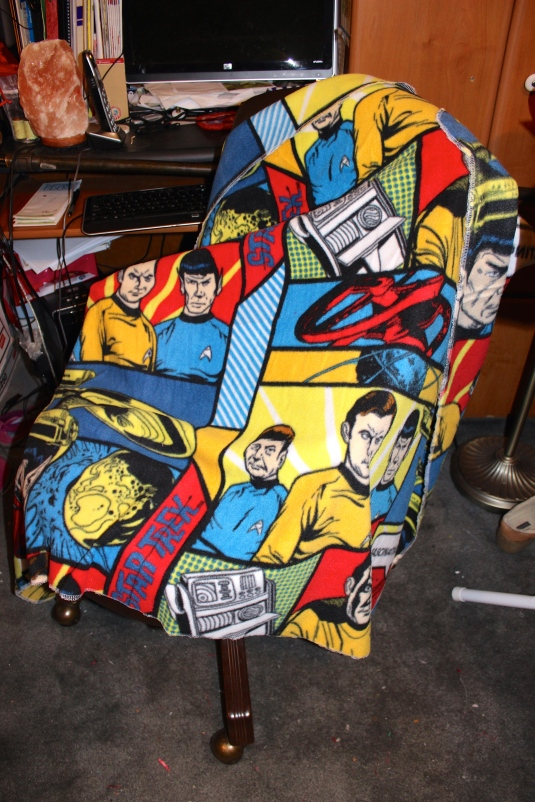 Star Trek fleece blanket