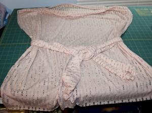 Leno weave top